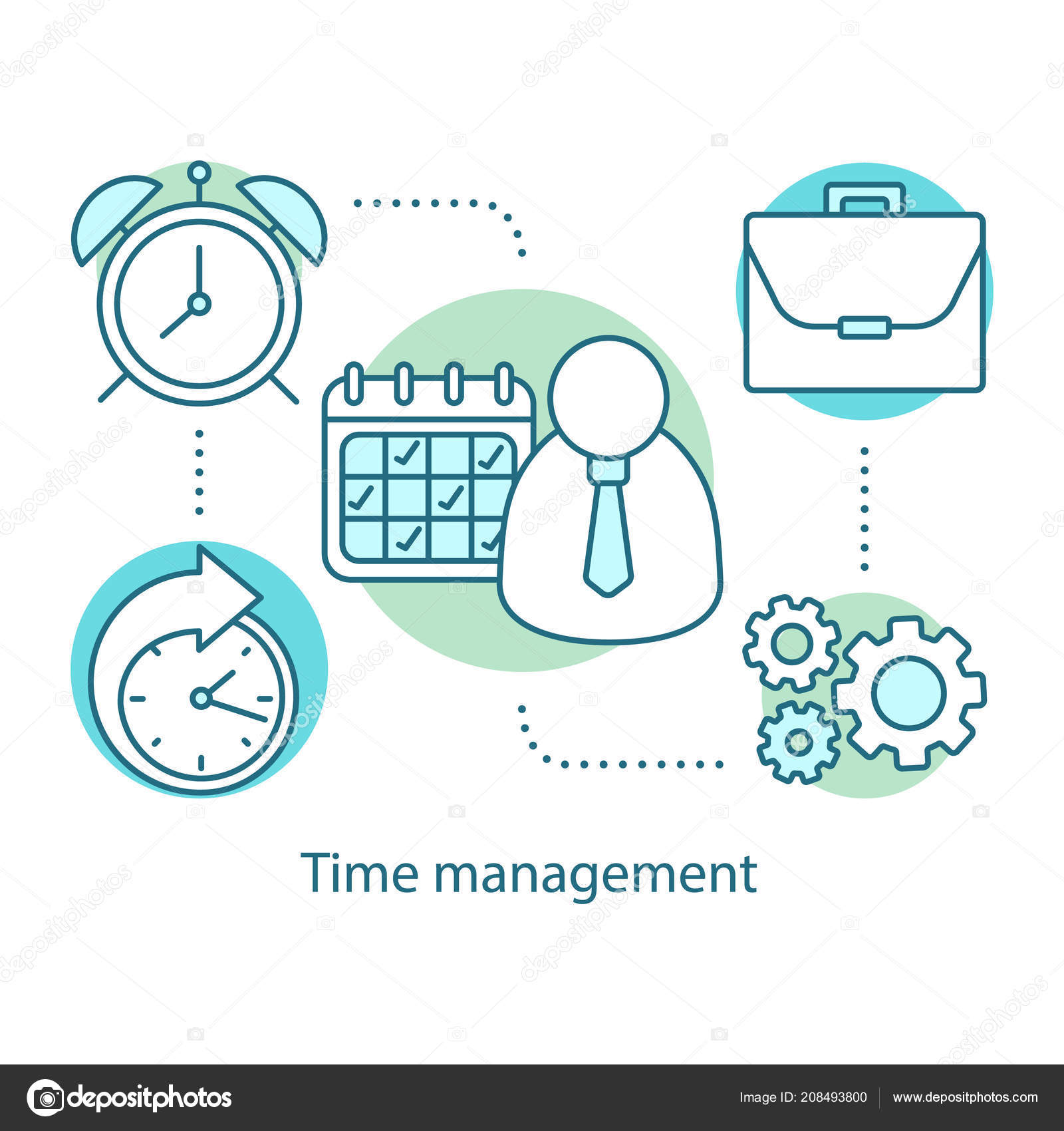 time management concept icon effective work planning scheduling time