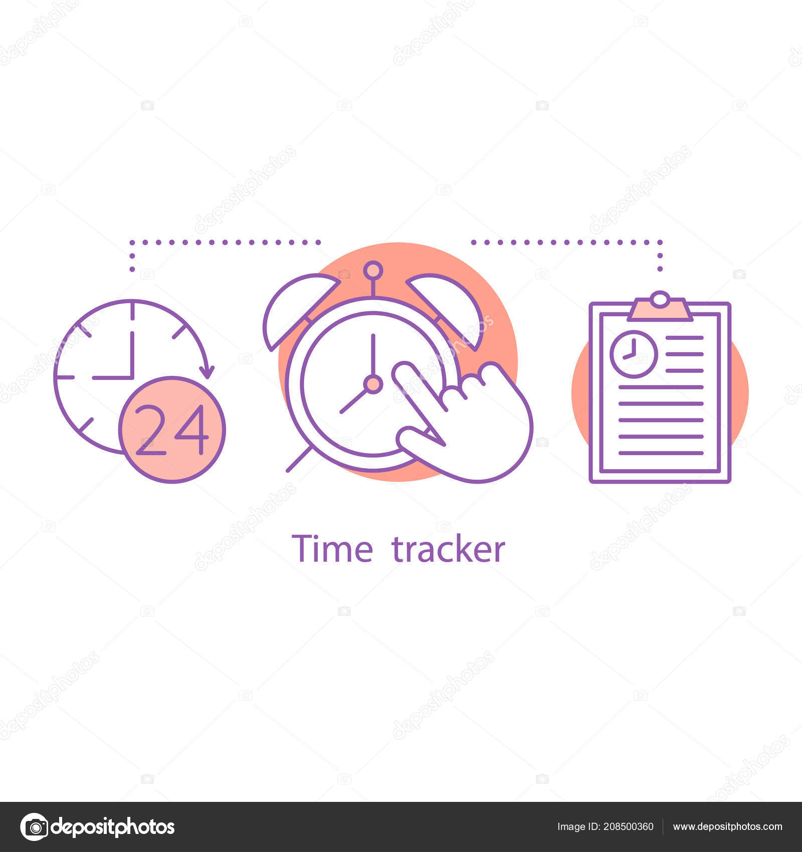 time tracker concept icon time management idea thin line