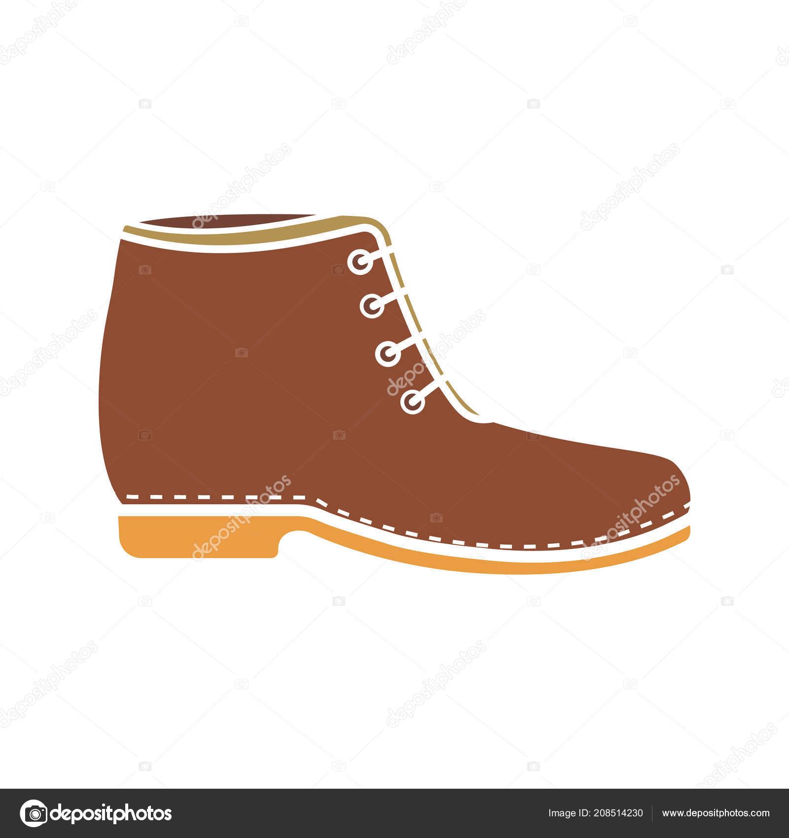 777353738f Boot Glyph Color Icon Men Shoe Icon Winter Autumn Fashion — Stock Vector