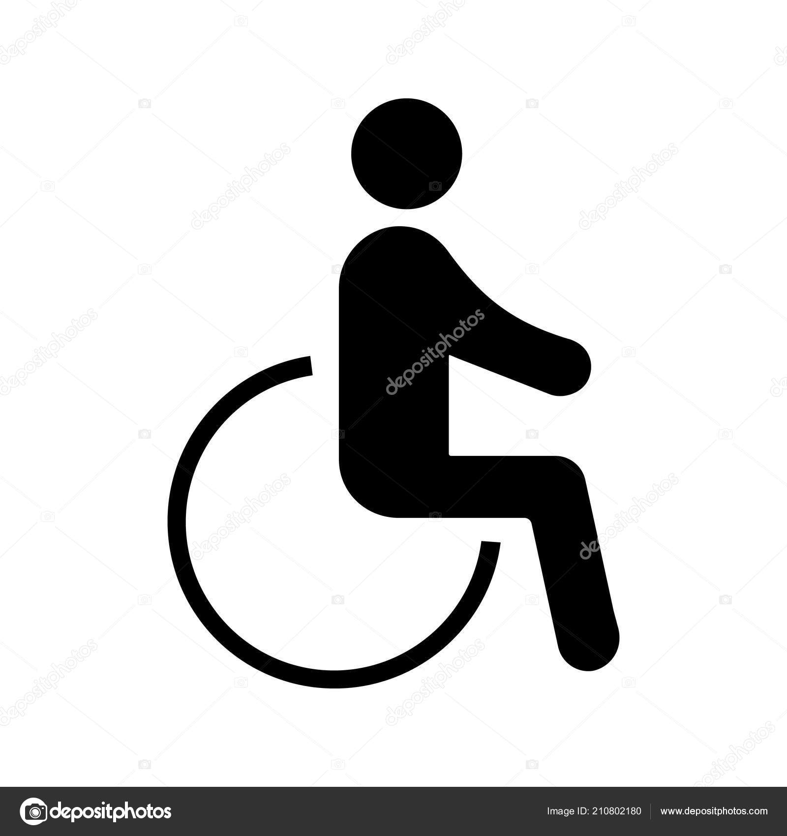 accessible glyph icon disability disabled person handicap man