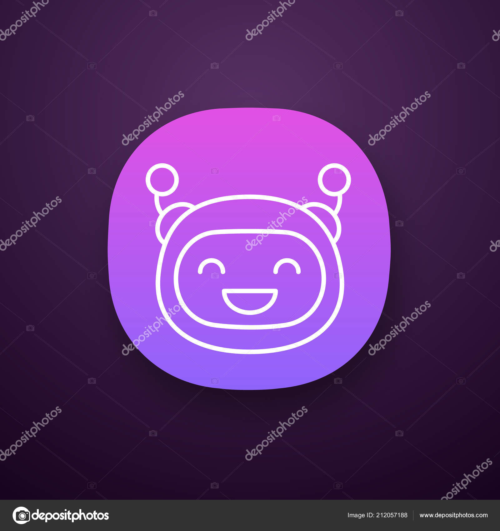 Laughing Robot Emoji App Icon — Stock Vector © bsd #212057188