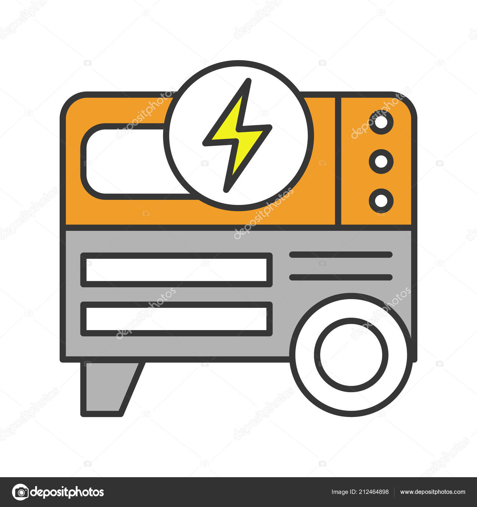 Power generator icon Clipart Png Portable Power Generator Color Icon Stock Vector Depositphotos Portable Power Generator Color Icon Stock Vector Bsd 212464898