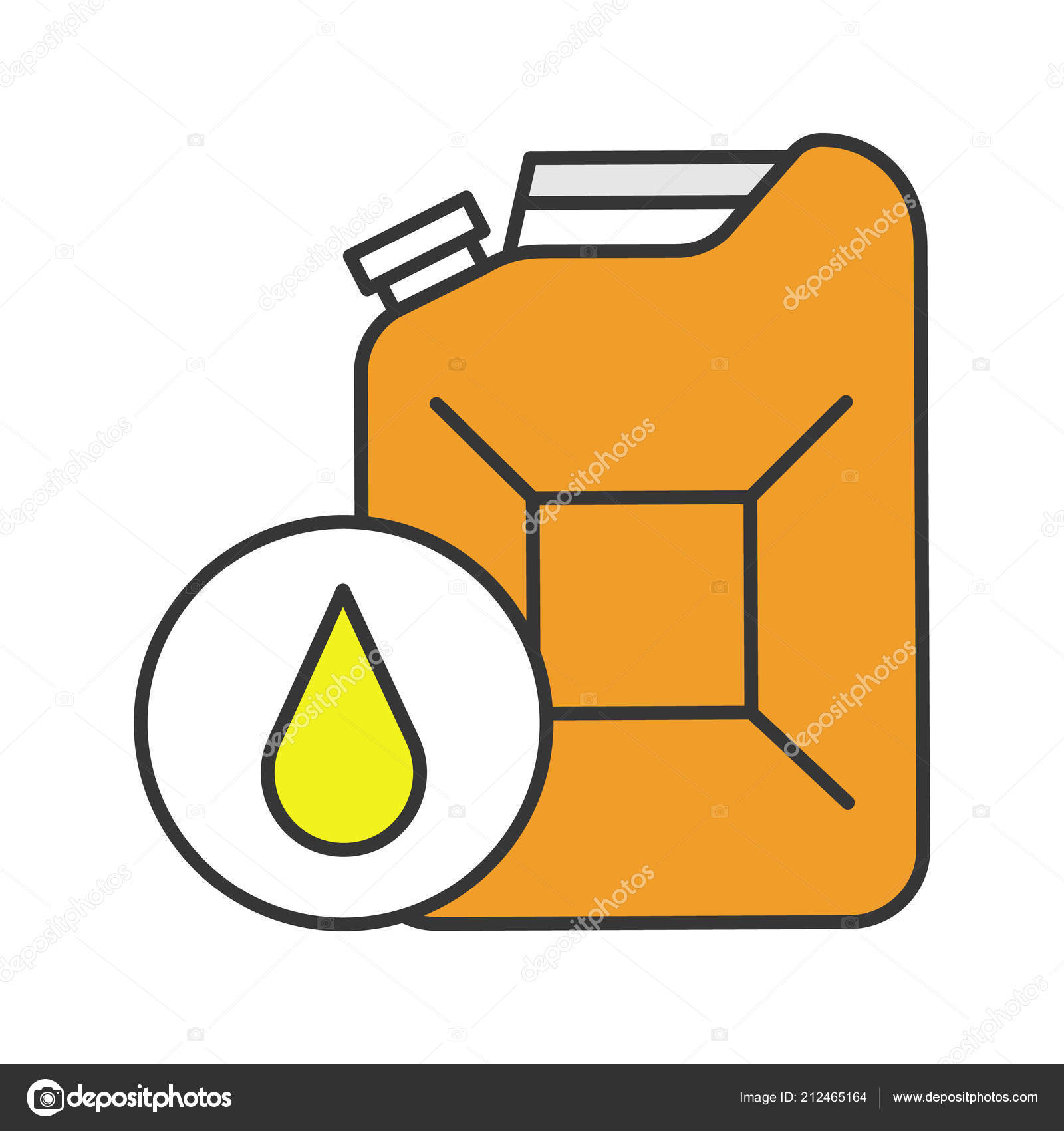 Steel Jerry Can Color Icon White Background — Stockvector © bsd ...