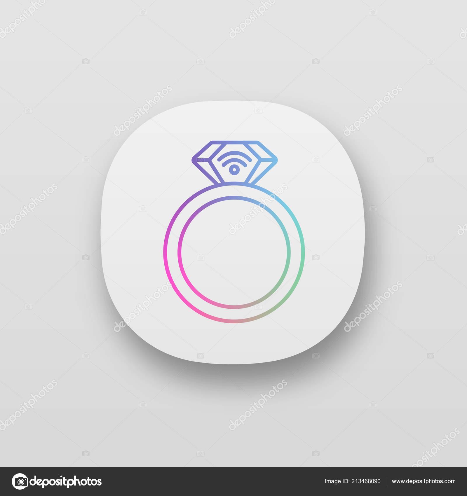 Nfc Ring App Icon Field Communication — Stock Vector © bsd