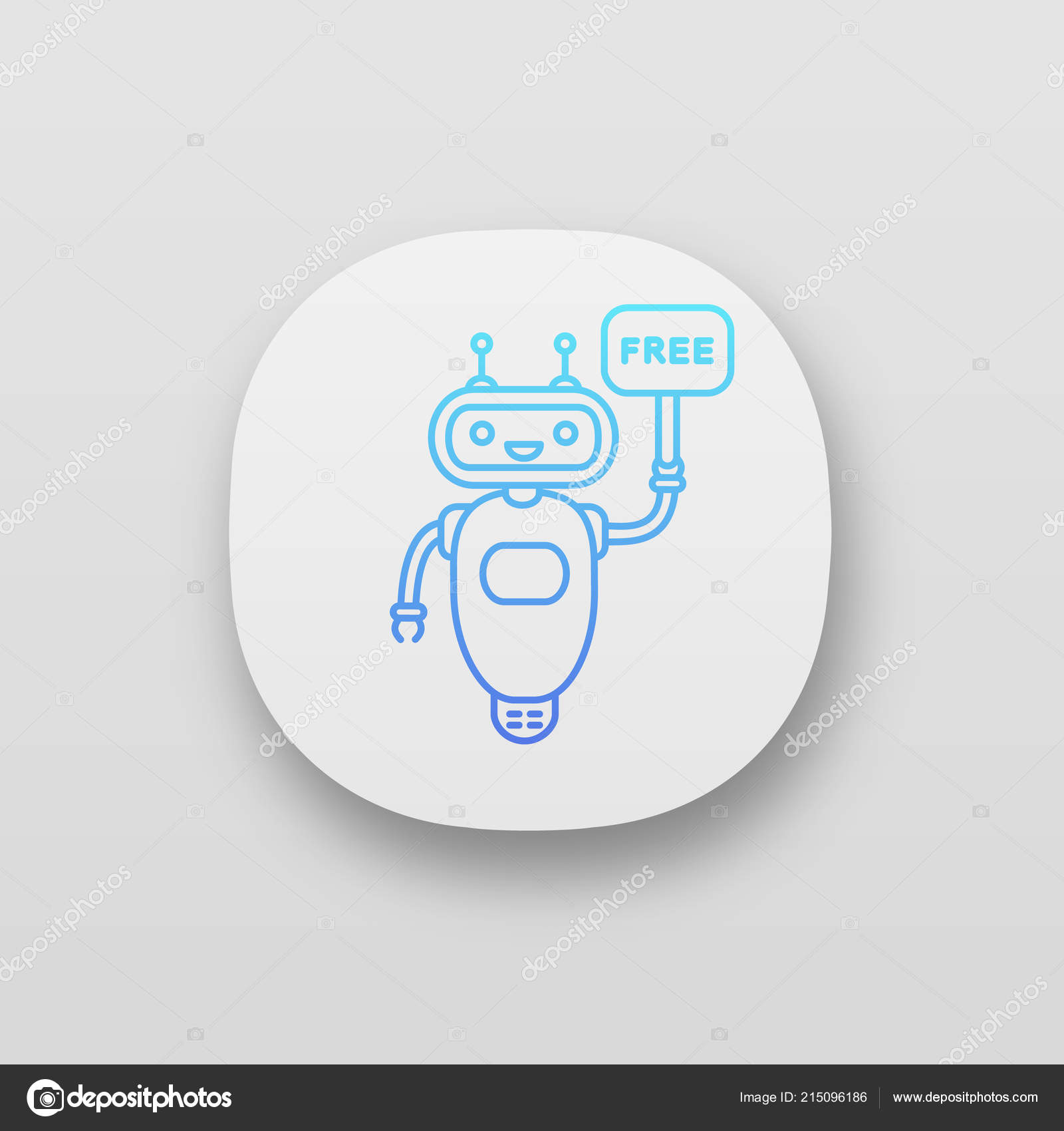 Chatbot Free Speech Bubble App Icon — Stock Vector © bsd
