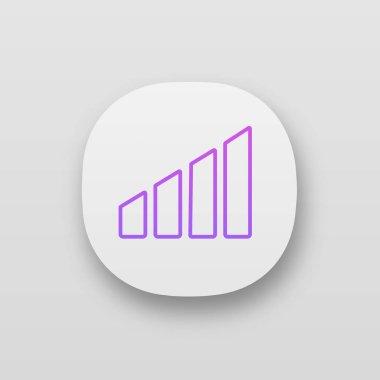 Mobile signal power level app icon. icon