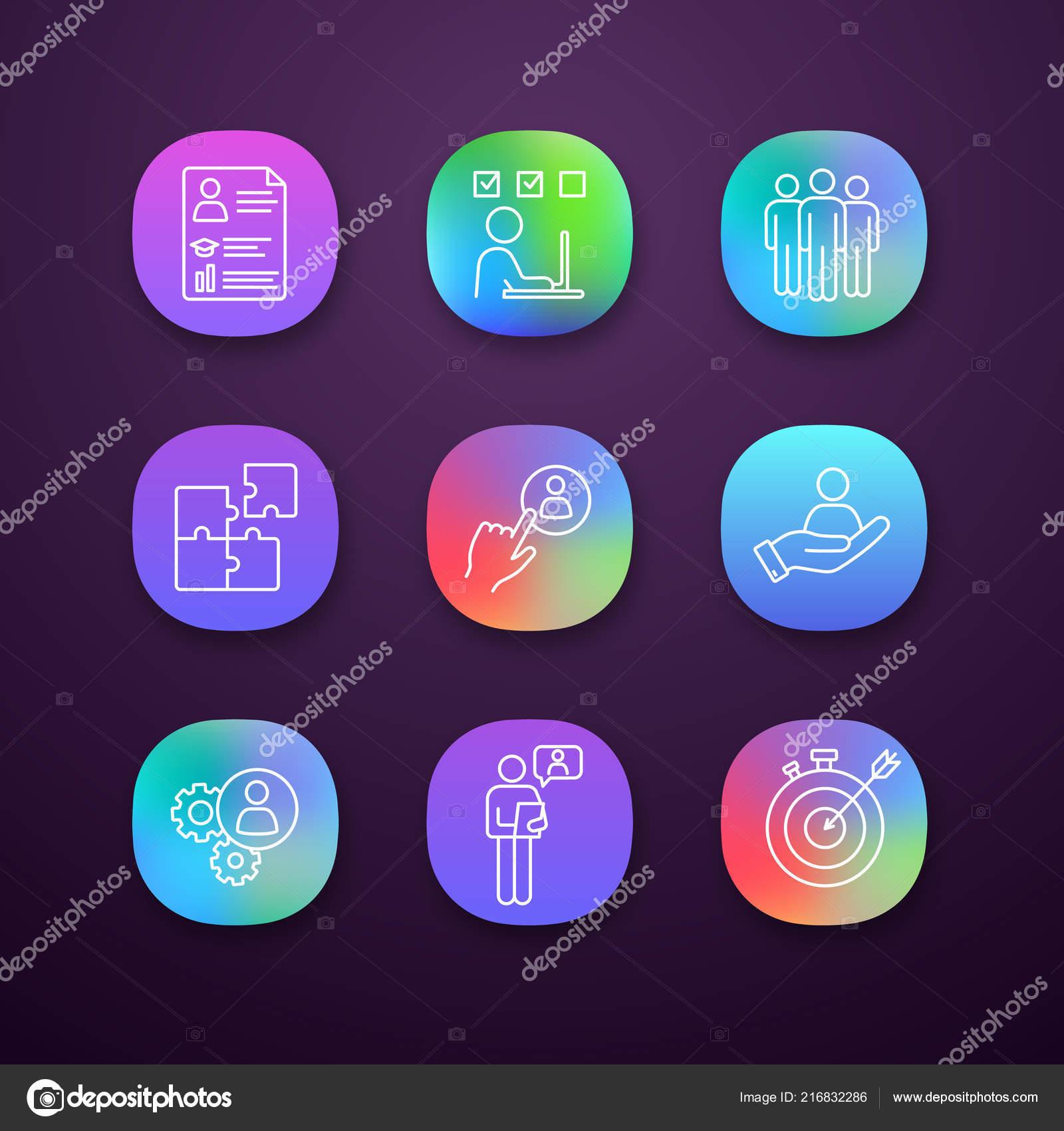 önéletrajz ikonok Üzleti Menedzsment App Ikonok Beállítása Önéletrajz Feladat  önéletrajz ikonok