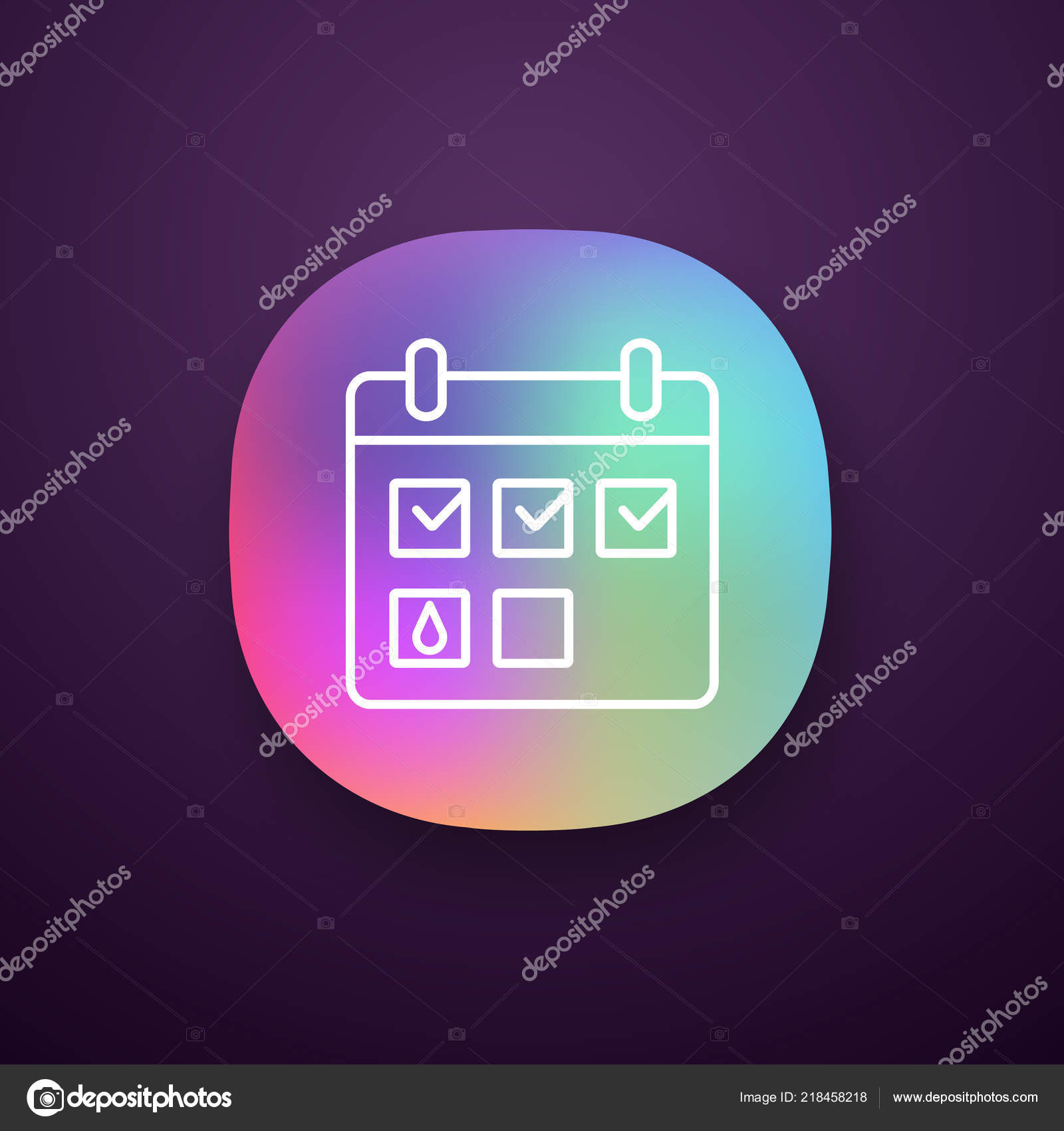 Aplicacion Calendario Menstrual.Icono Aplicacion Calendario Menstrual Perseguidor Del