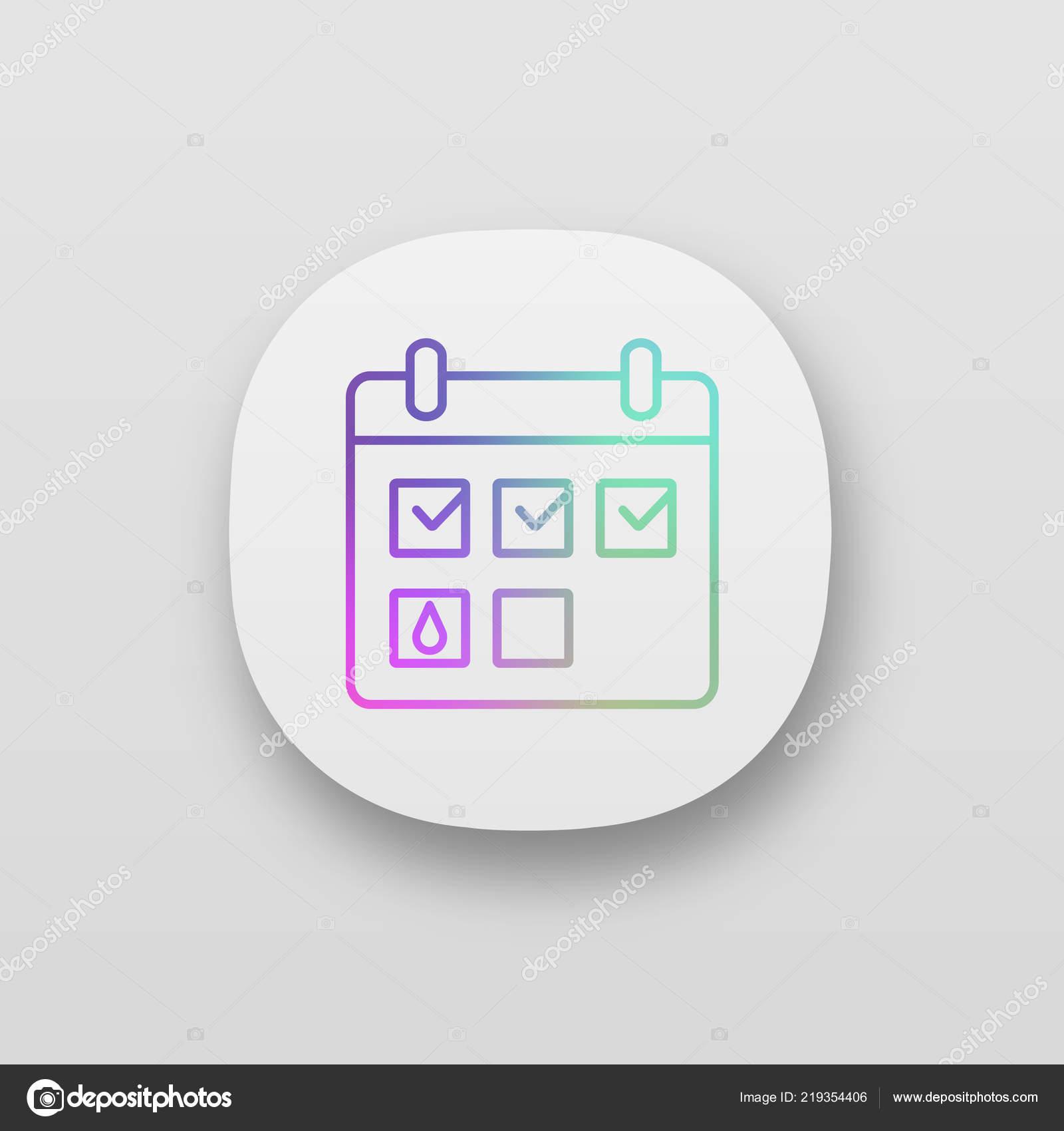 Menstrual Calendar App Icon Period Tracker Pregnancy