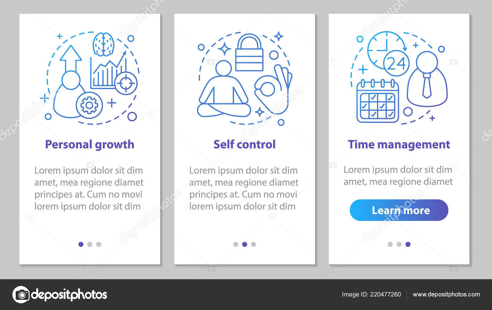 Personal Qualities Onboarding Mobile App Page Screen Linear