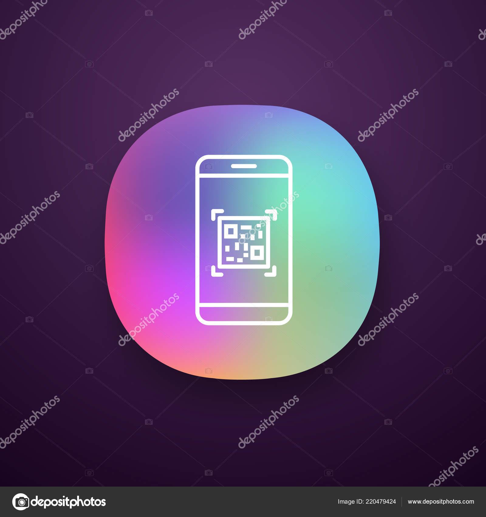 Code Scanning Smartphone App Icon Matrix Barcode Scanner