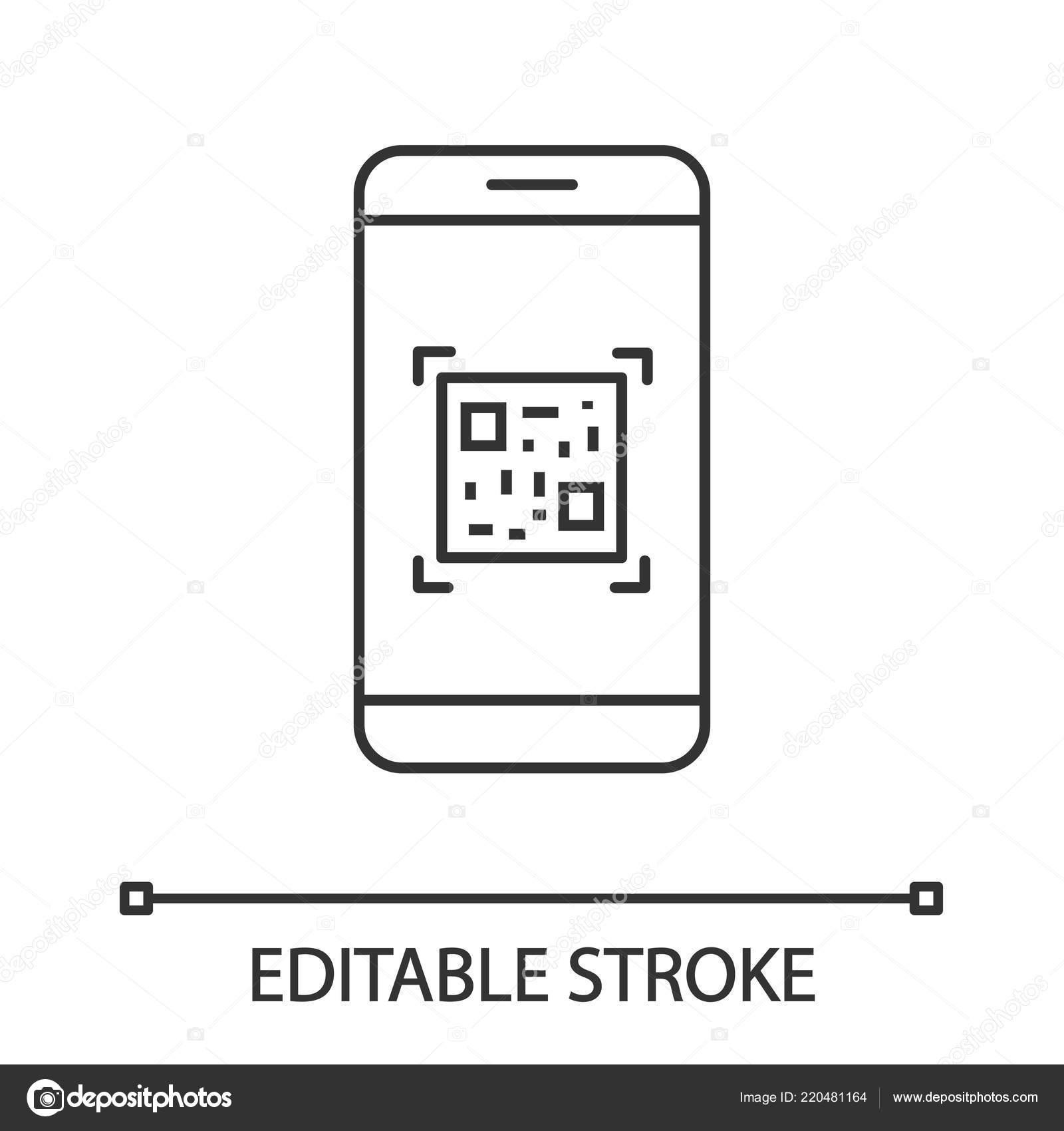 Kod Skenovani Linearni Ikonu Aplikace Smartphone Matice Carovych