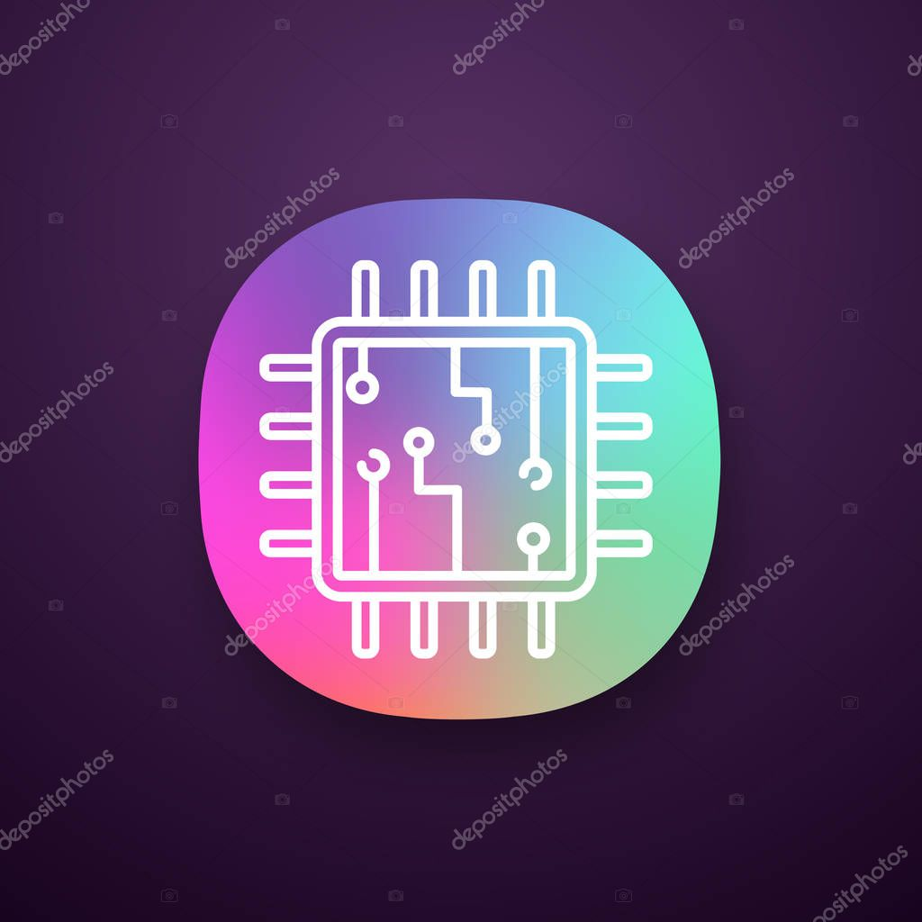 Icons Website Search Over 28444869 Icon Electronic Circuit App Central Processing Unit Processor With Circuits Ui Ux Interface Microprocessor Microcircuits