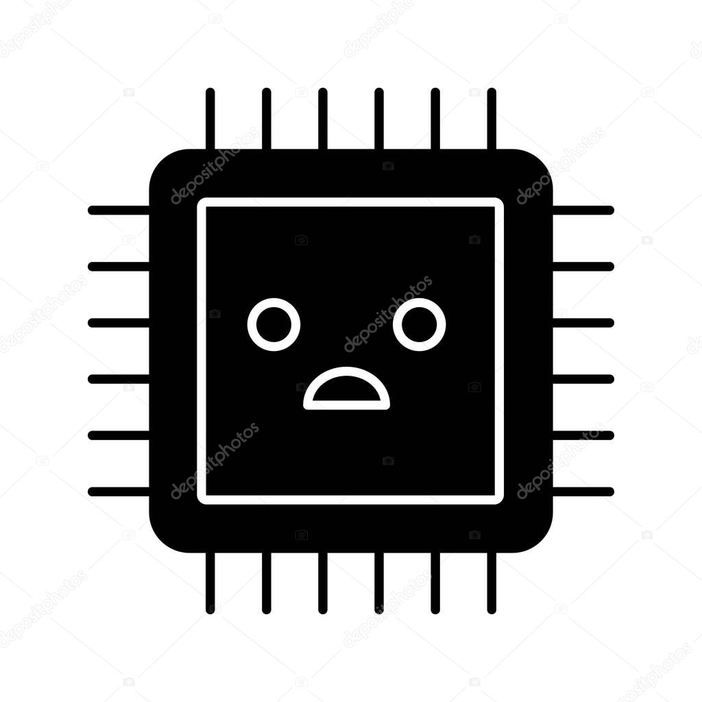 Icons Website Search Over 28444869 Icon Integrated Circuits And Symbol Computer Sad Processor Glyph Bad Cpu Microprocessor Failure Central Processing Unit Problems