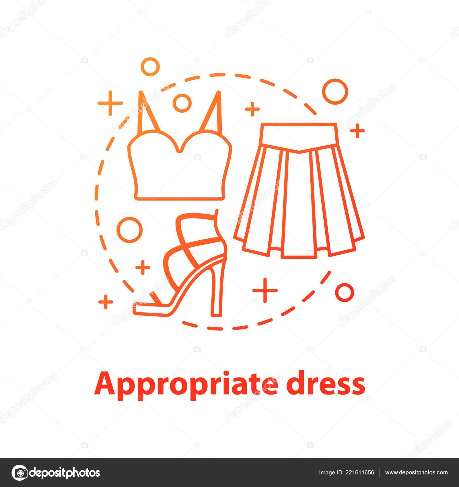 best sneakers 02bff 07e3c Angemessene Kleidung Konzept Symbol Informelle Verschleiß ...