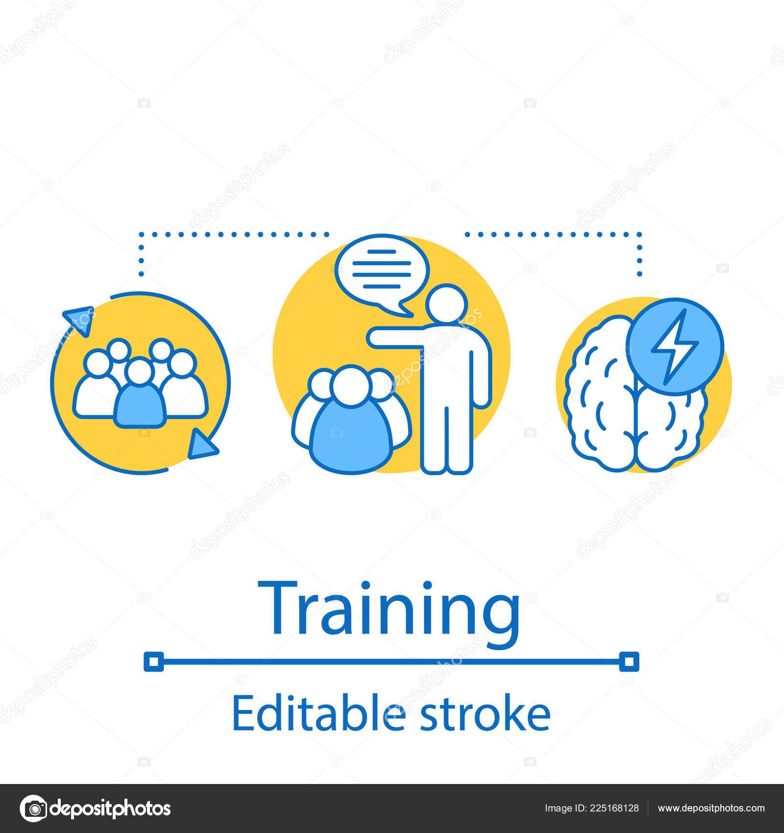 Training Concept Icon Brainstorming Idea Thin Line