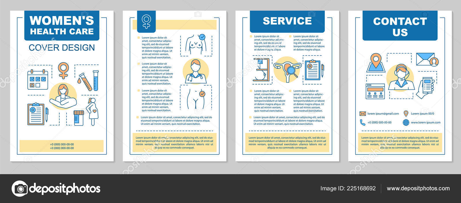 Magazine article layouts | Gynecology Brochure Template