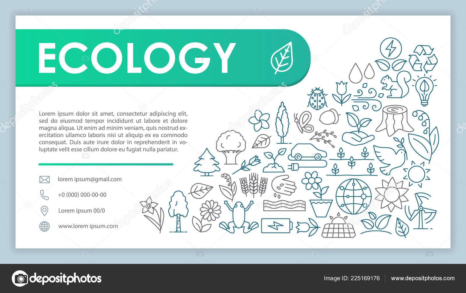 Sauver La Planete Page Contact Du Site Mise En De Carte Visite Avec Illustrations Lineaires Modele Web