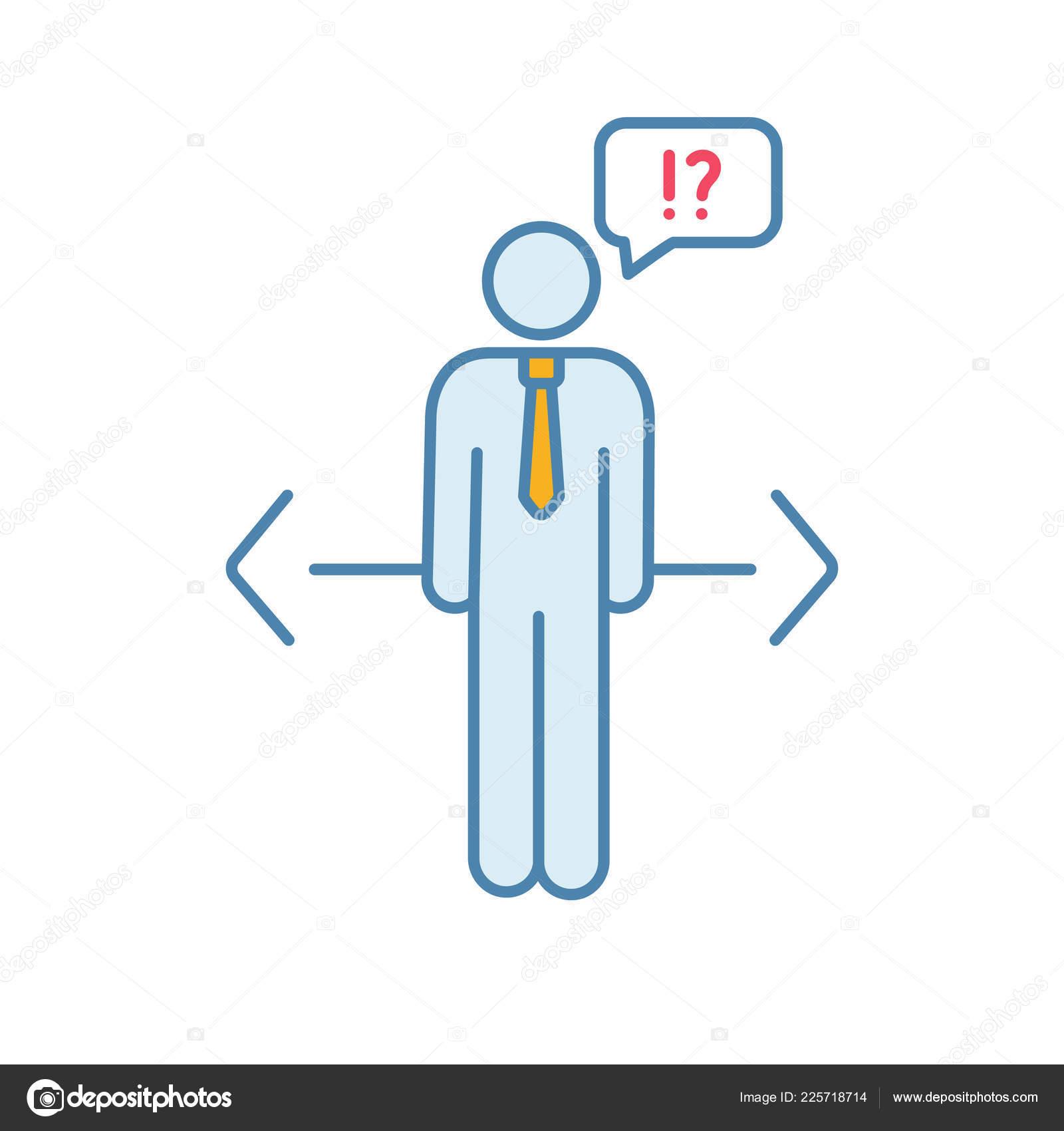 Making Choice Color Icon Decision Management Ethical Dilemma Job