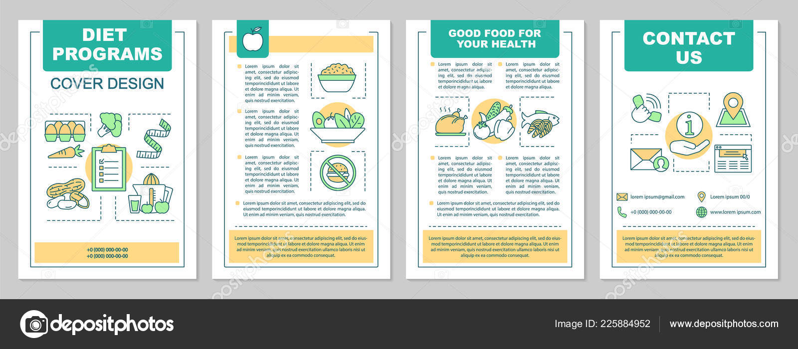 Food Magazine Layout Templates Healthy Nutrition Brochure Template Layout Dieting Program Flyer Booklet Leaflet Stock Vector C Bsd 225884952
