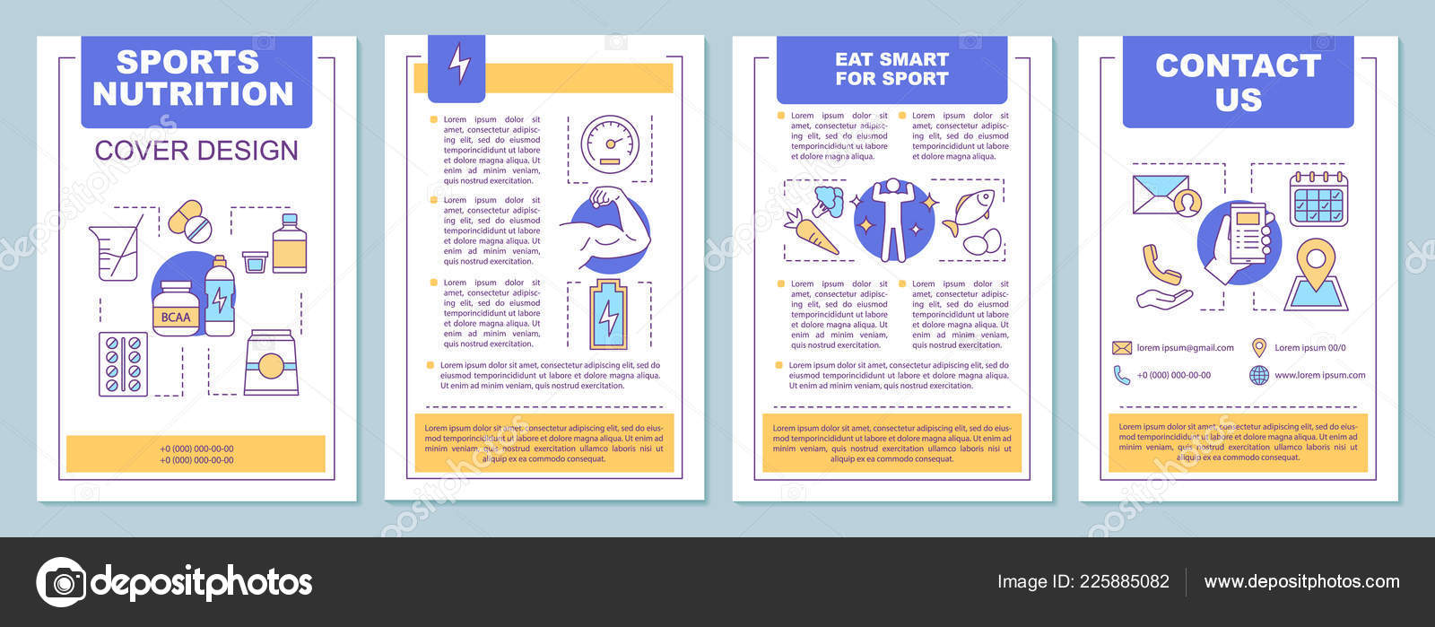 sports nutrition brochure template layout bcaa proteins vitamins