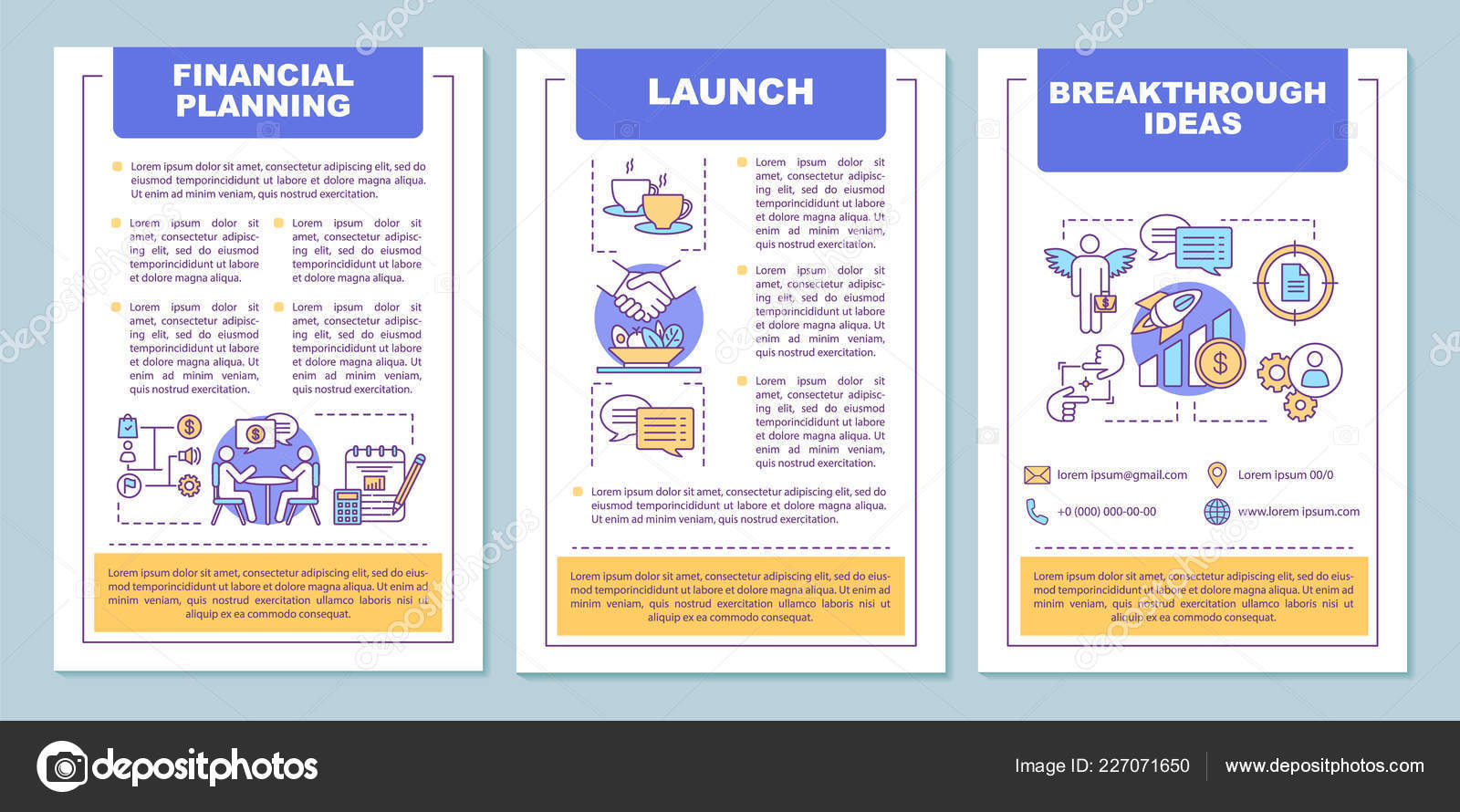 Financial Planning Brochure Template Layout Budgeting Funding