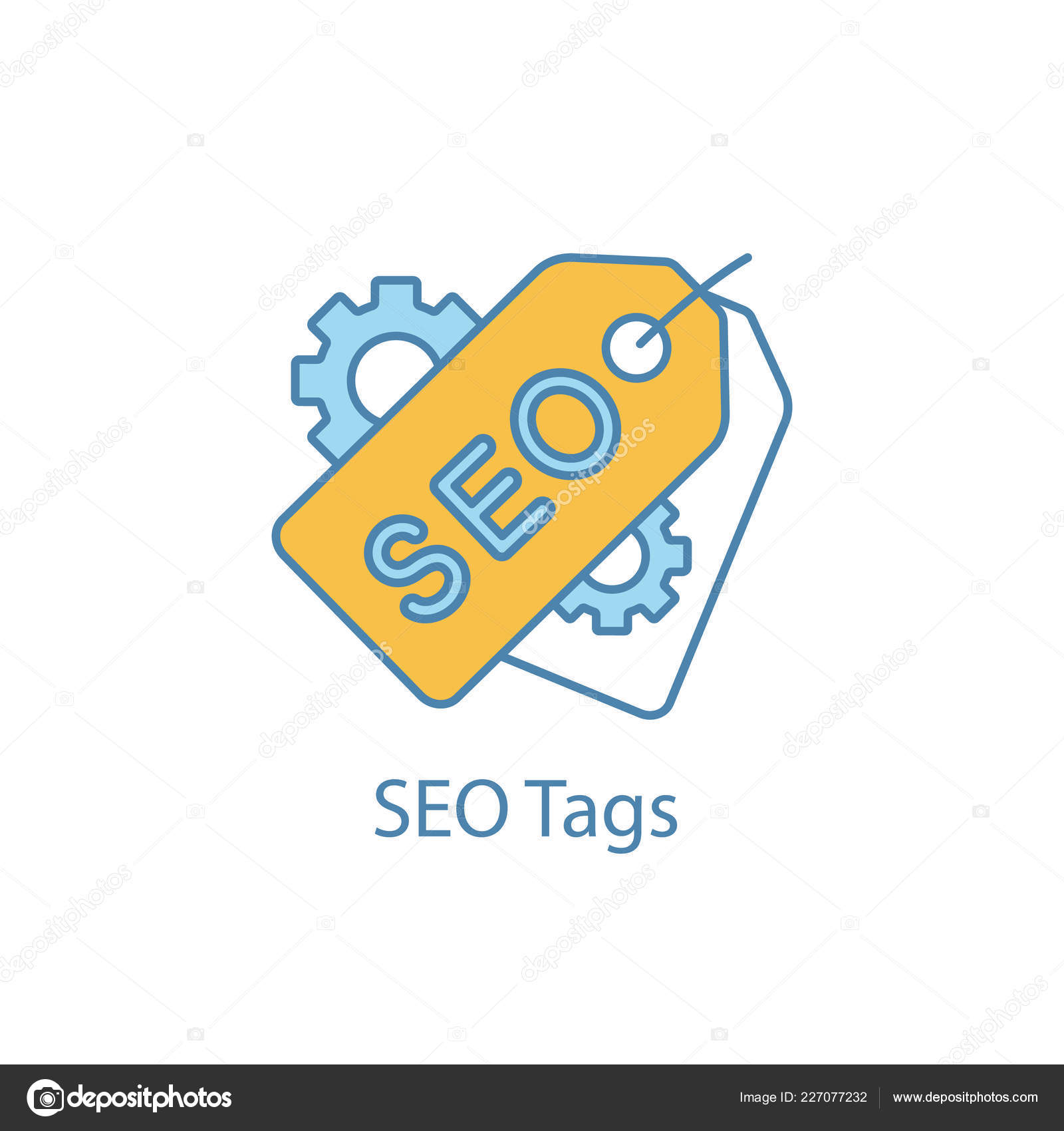Seo Tags Color Icon Meta Tags Search Optimization Seo