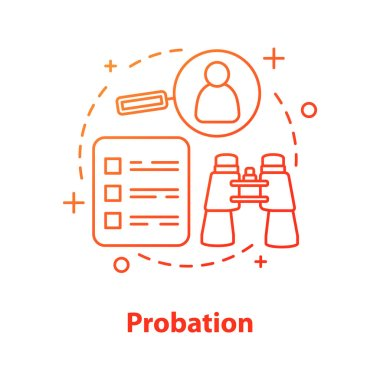 Probation concept icon vector illustration