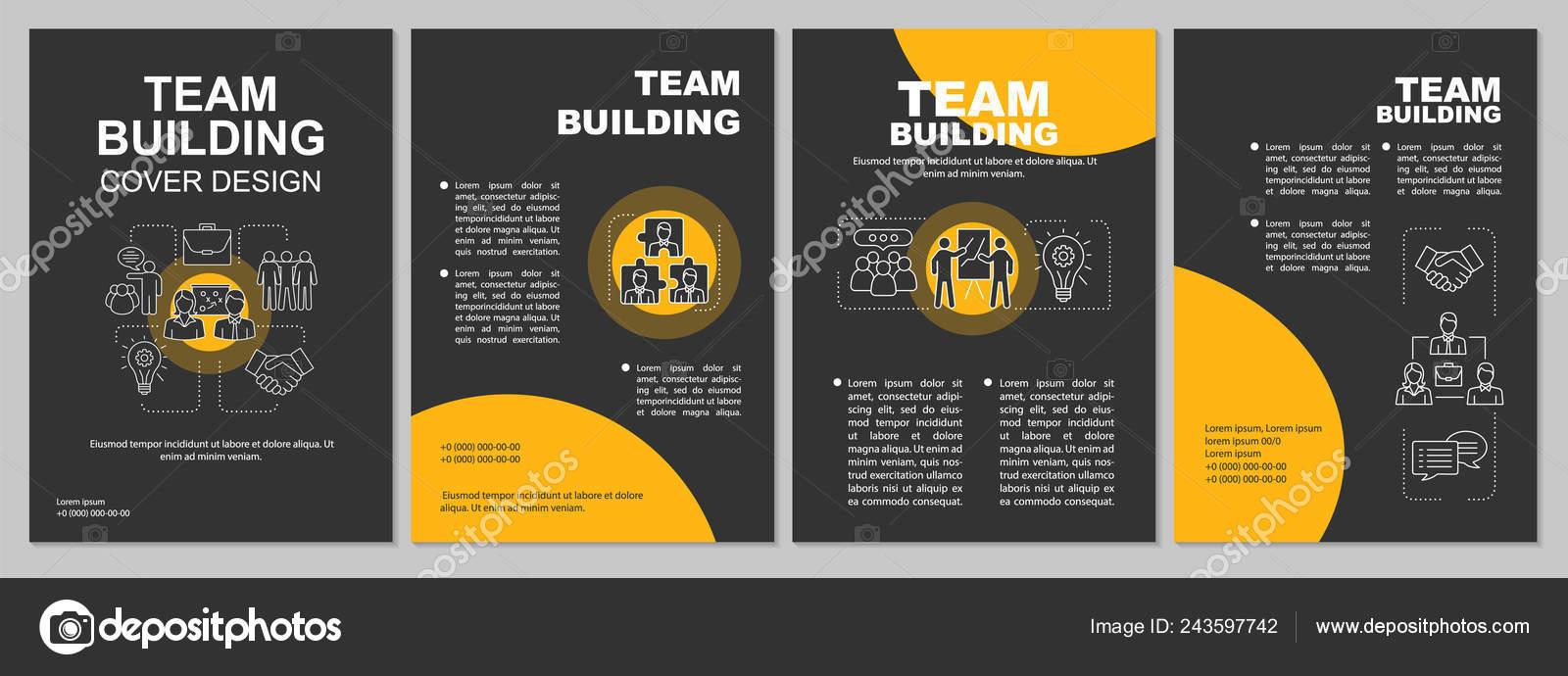 Team Building Brochure Template Teamwork Flyer Booklet Leaflet Print