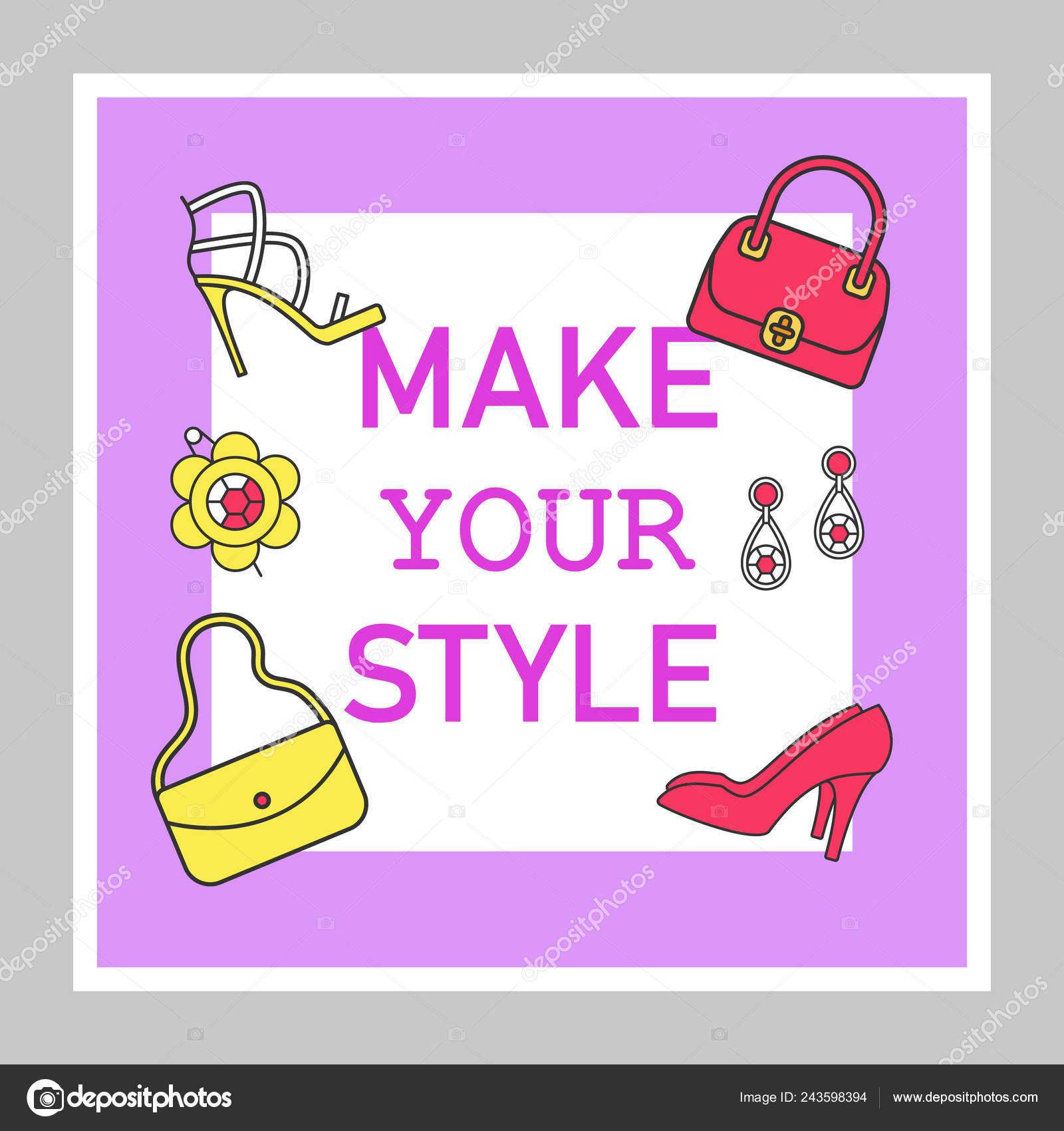 e56eb6835a8 Redes sociales tienda accesorios puestos de maqueta. Zapatos, bolsos,  joyería. Plantilla de publicidad web banner. Refuerzo de redes sociales, ...