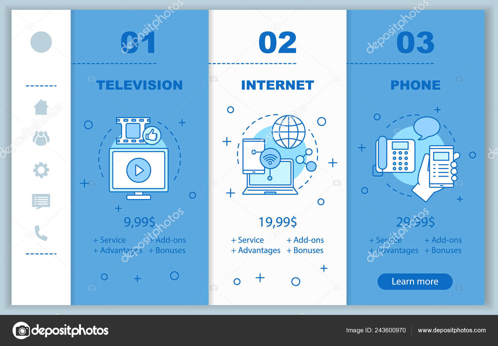 Internet And Cable Providers >> Cable Internet Phone Bundle Onboarding Mobile App Screens