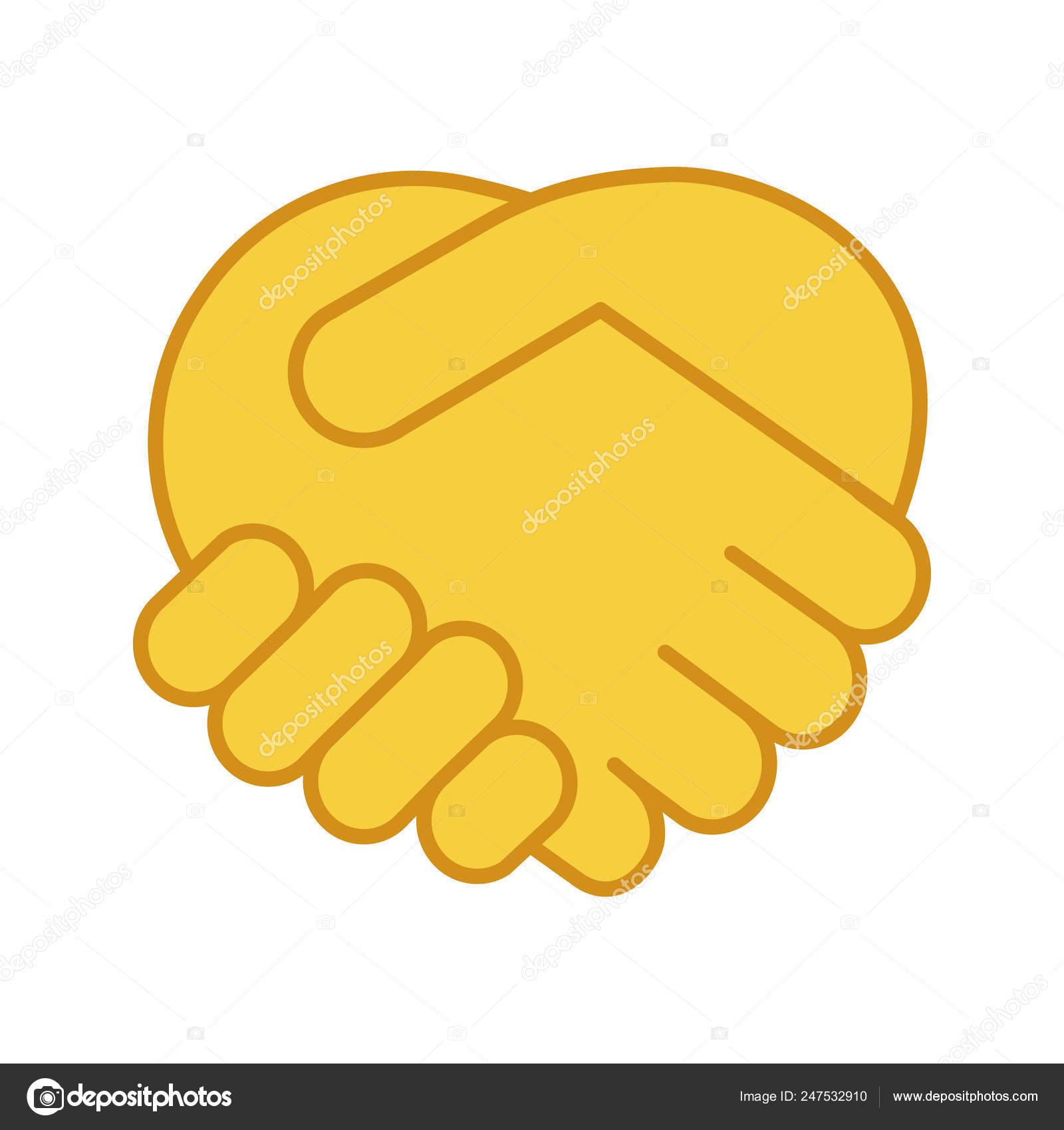 Handshake Gesture Color Icon Shaking Hands Emoji Friends Meeting Agreement  ⬇ Vector Image by © bsd | Vector Stock 247532910