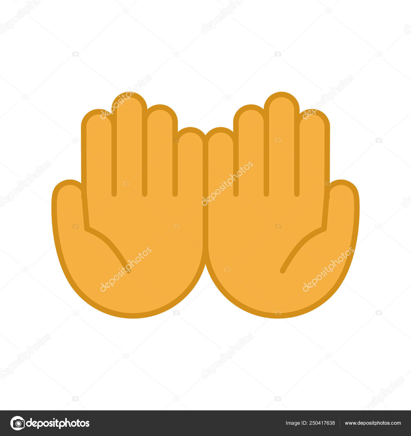 vector praying hands emoji cupped hands color icon palms together emoji begging gesturing islam stock vector c bsd 250417638 vector praying hands emoji cupped hands color icon palms together emoji begging gesturing islam stock vector c bsd 250417638