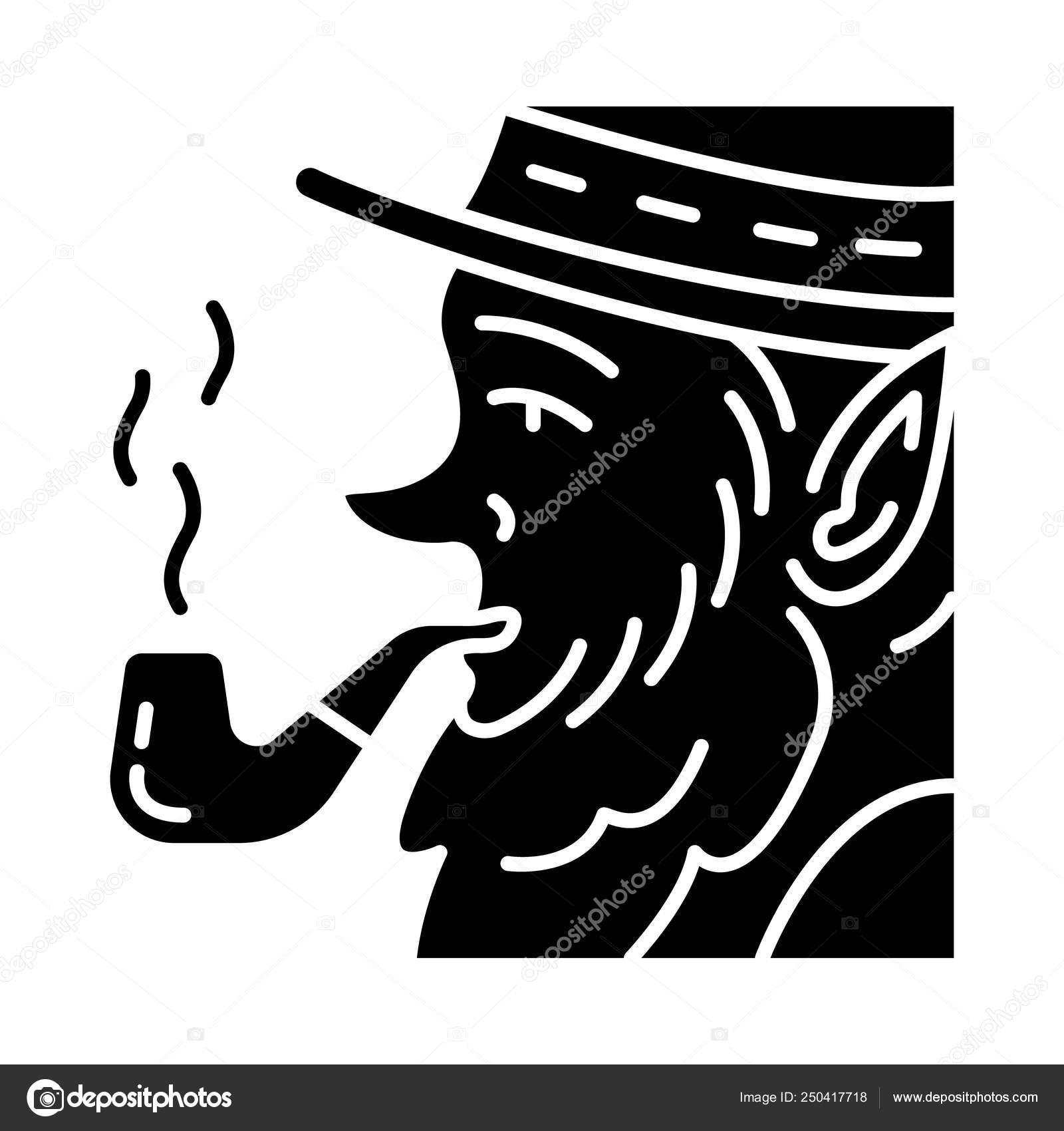Leprechaun Pipe Glyph Icon Irish Mythology Character Saint