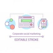 Fotografia Icona di concetto di marketing sociale aziendale