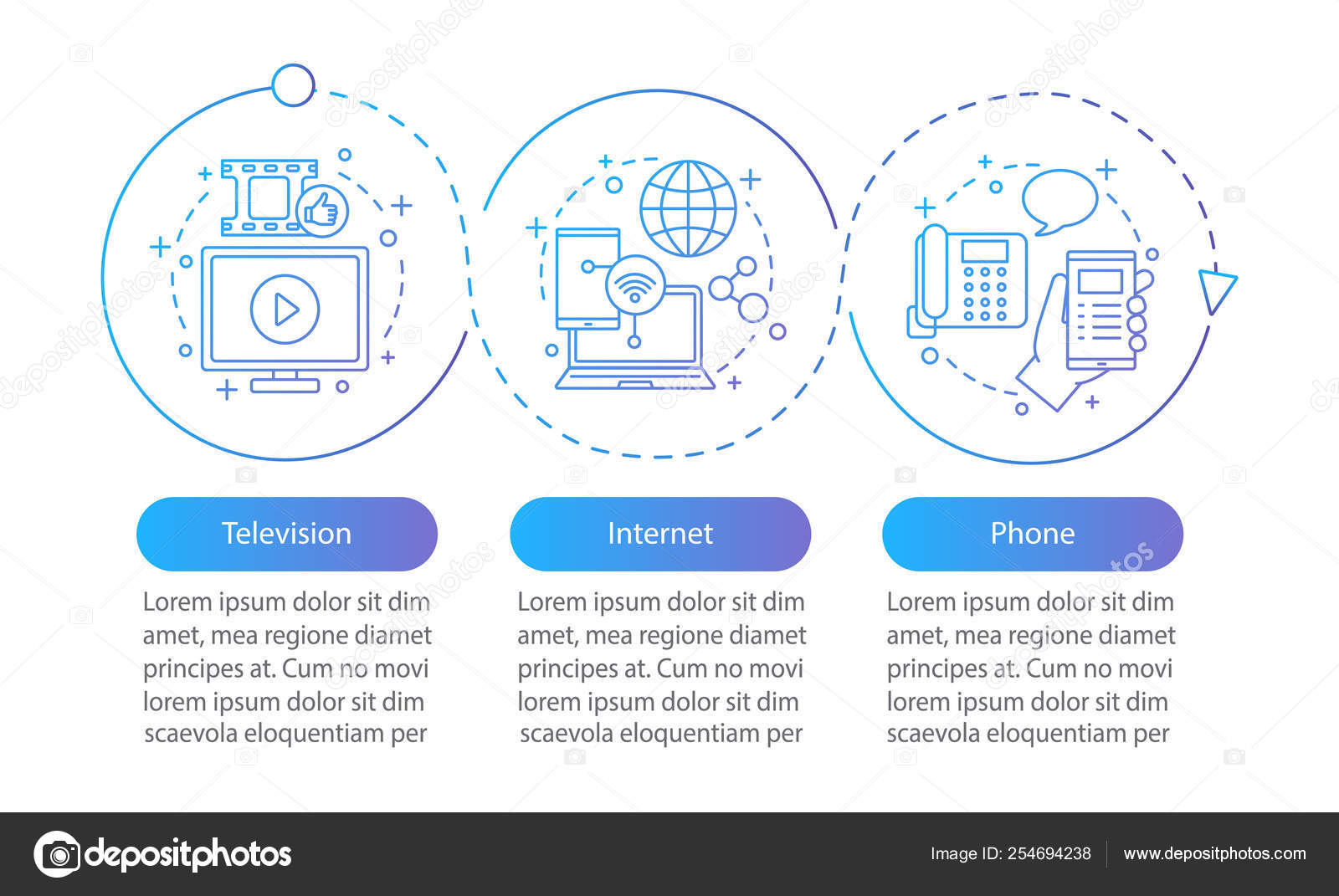 Tv And Internet Providers >> Internet Phone Bundle Vector Infographic Template