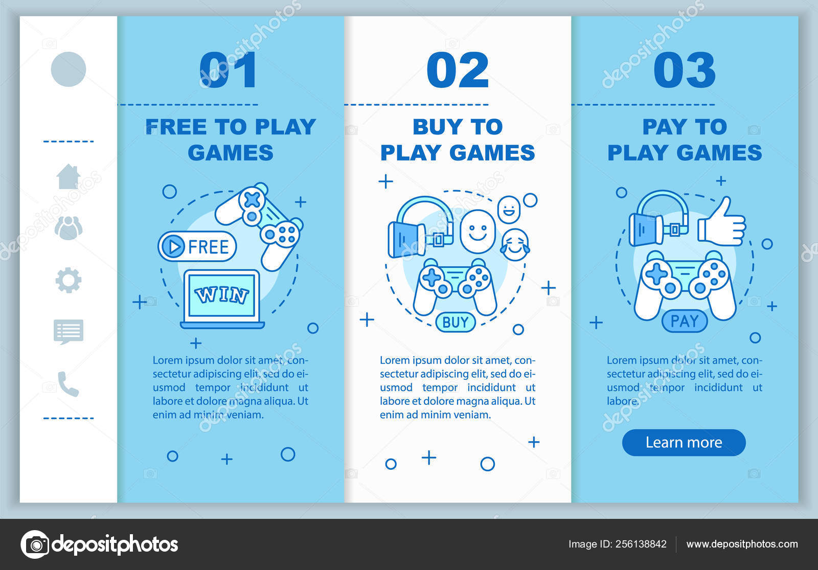 Buying Apps Games Onboarding Mobile Web Pages Vector Template Free