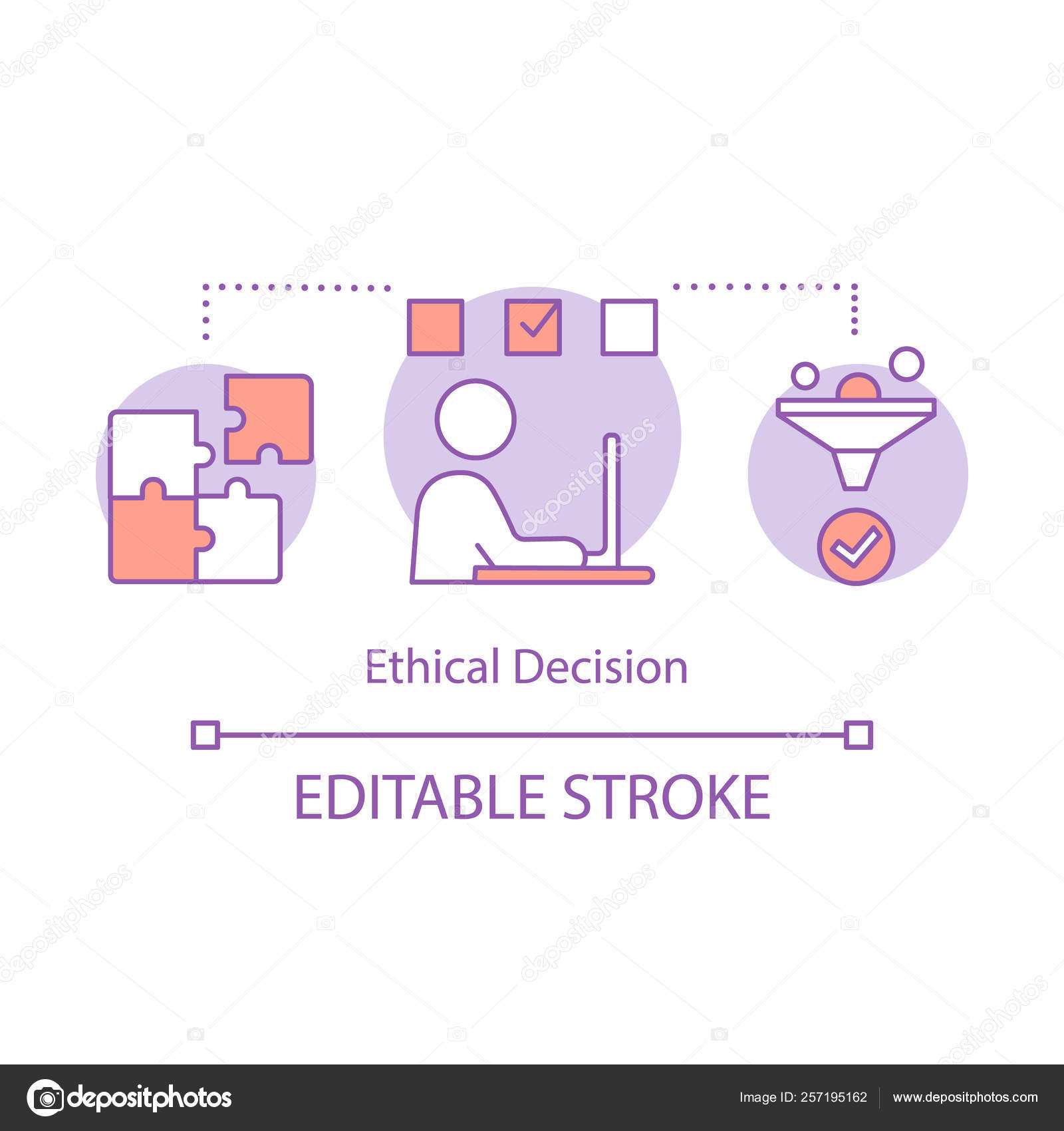 Ethical decision concept icon — Stock Vector © bsd #257195162