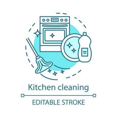 Kitchen cleaning concept icon