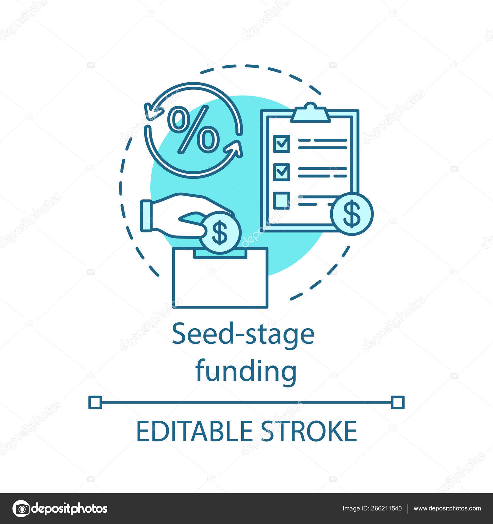 Seed-stage funding concept icon — Stock Vector © bsd #266211540