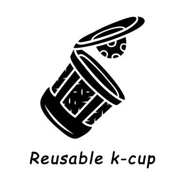 Reusable k-cup glyph icon