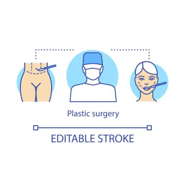 Plastic surgery concept icon