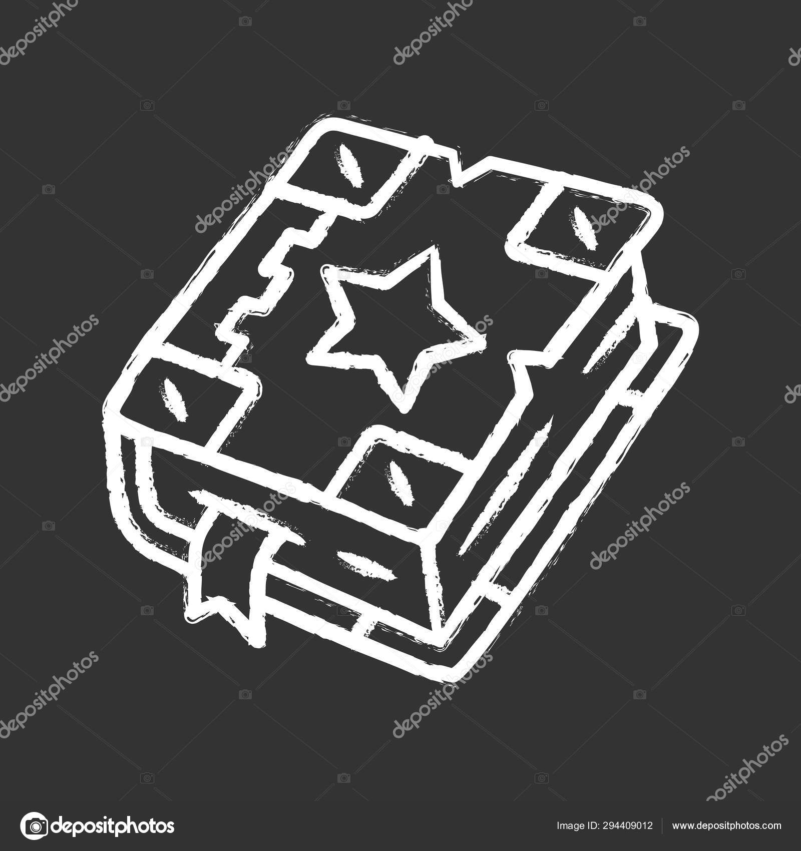 Spell Book Chalk Icon Black Magic Old Spellbook Witchcraft Sorcery Ancient Item Magic Potion Recipes Antique Grimoire Fairytale Fantasy And Mystery Book Isolated Vector Chalkboard Illustration Stock Vector C Bsd 294409012