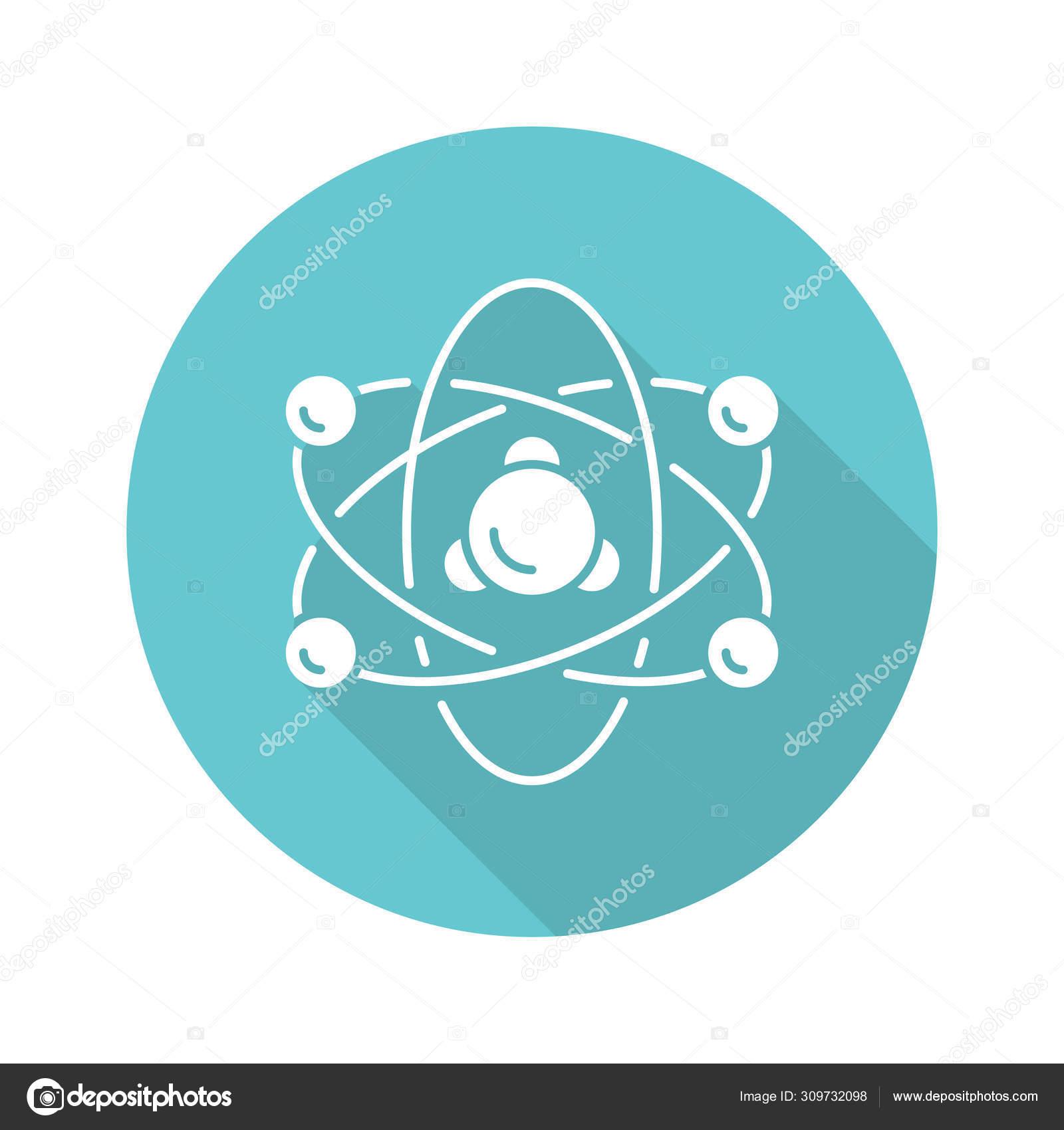 Física Nuclear Turquesa Diseño Plano Icono De Glifo De