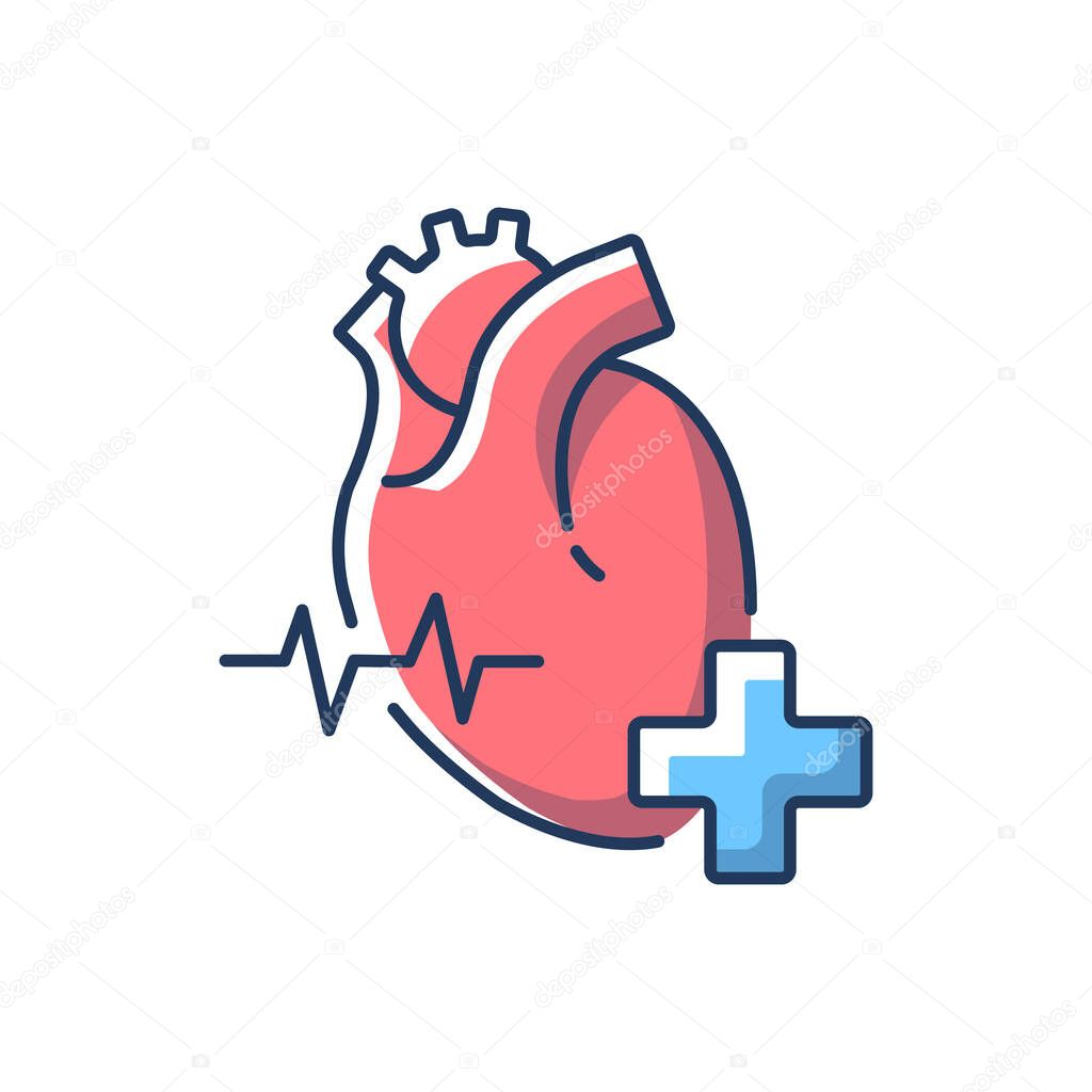 Cardiology Department Rgb Color Icon Cardiologist Cardiology Consultant Heart Disease Treatment Medical Diagnosis Cardiac Surgeon Hospital Department Isolated Vector Illustration Premium Vector In Adobe Illustrator Ai Ai Format Encapsulated