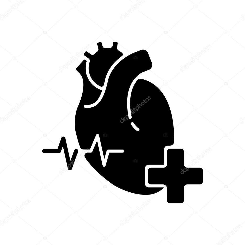 Cardiology Department Black Glyph Icon Cardiologist Cardiology Consultant Heart Disease Treatment Medical Diagnosis Cardiac Surgeon Silhouette Symbol On White Space Vector Isolated Illustration Premium Vector In Adobe Illustrator Ai Ai