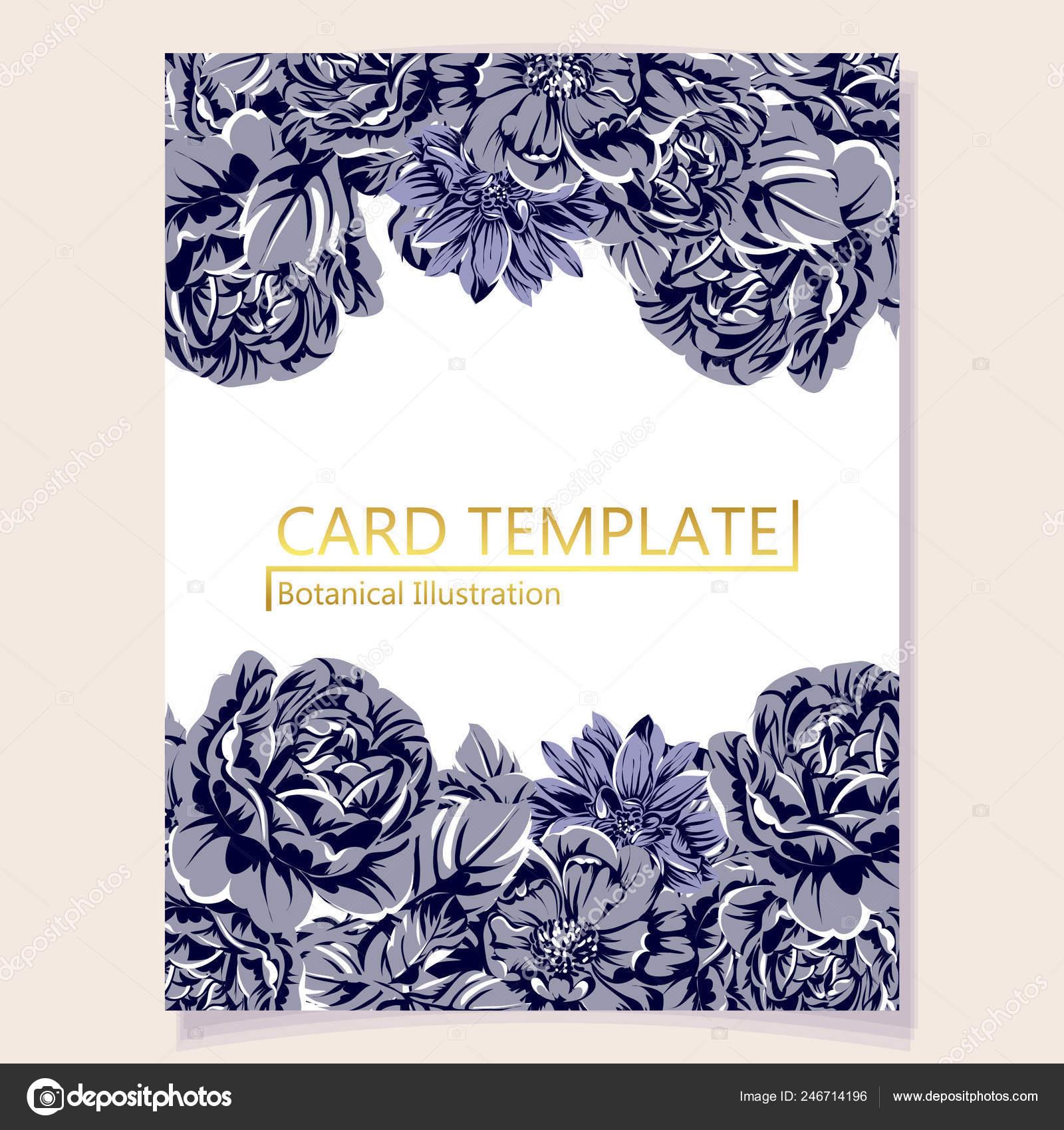 Vector Illustration Retro Invitation Card Vintage Style