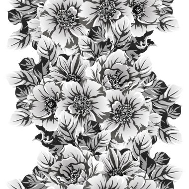 vector illustration of vintage flowers pattern background
