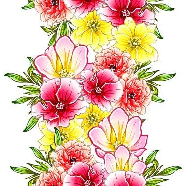 """Картина, постер, плакат, фотообои """"Векторная иллюстрация яркие цветы шаблон фона"""", артикул 274964650"""