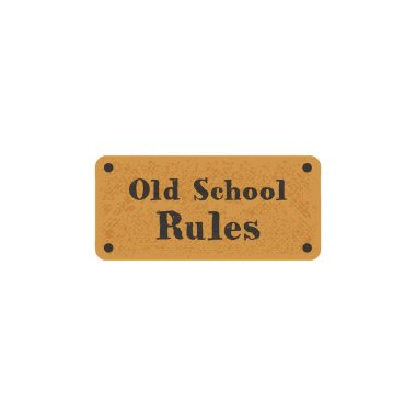 Old school label on retro card. Vintage hand drawn style. Stock Vector typography isolated on white background.